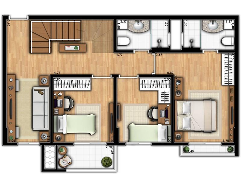 Apartamento Duplex 1A