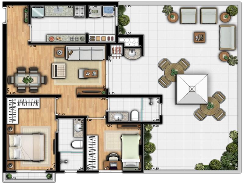 Apartamento Torre 1C